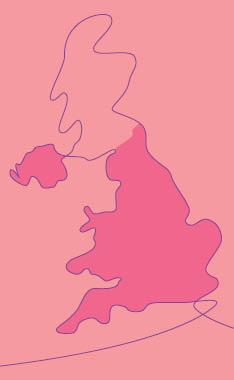 drawing of the UK