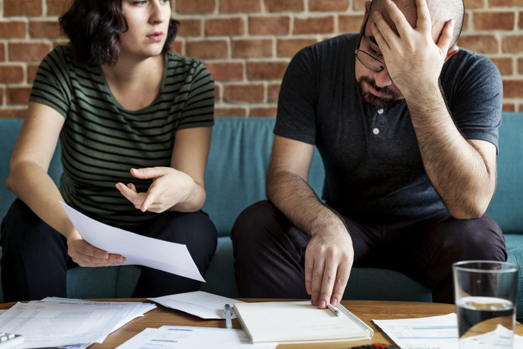 Couple worried about debt