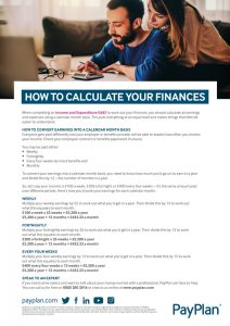 Financial wellbeing how to calculate your finances into calendar months thumbnail