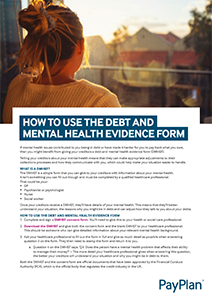 Debt and mental health evidence form thumbnail