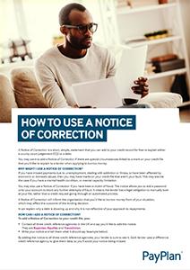 Notice of correction factsheet thumbnail