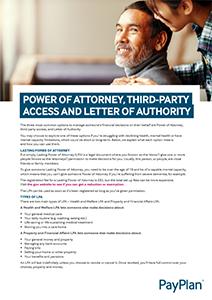 Power of attorney factsheet thumbnail