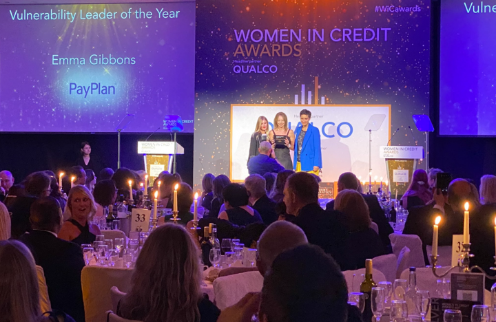Emma Gibbons wins Vulnerability Lead at the Women in Credit Awards 2021